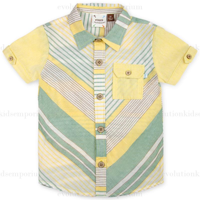 458dc6bdc Fore!! Axel   Hudson Yellow Stripe Playground Shirt