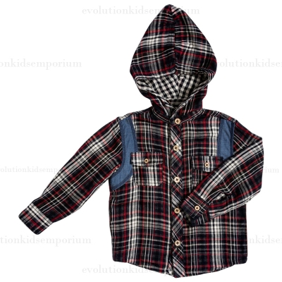 Fore!! Axel & Hudson Multi Double Plaid Reversible Hoodie