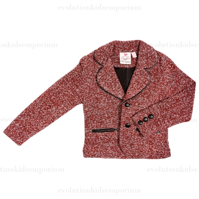 Fore!! Axel & Hudson Brick Boucle Jacket w/Leather Contrast