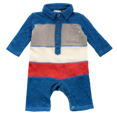 Babies Color Block Knit Sweater Romper