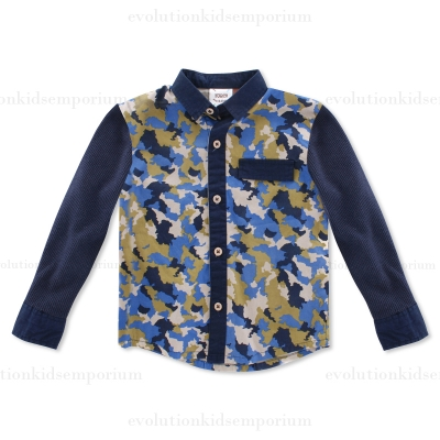 Fore!! Axel & Hudson L/S Camouflage Print Shirt