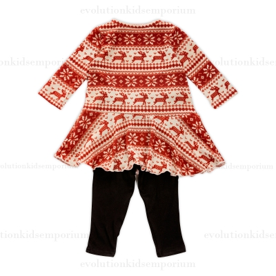 Nordic Sweater Baby Dress with leggings