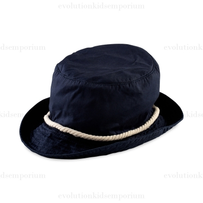Fore!! Axel & Hudson Navy Bucket Hat w/Natural Cording