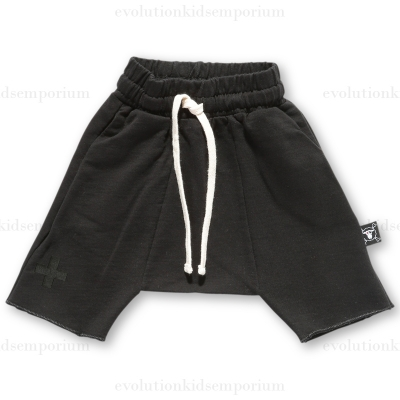 NUNUNU Black Terry Shorts