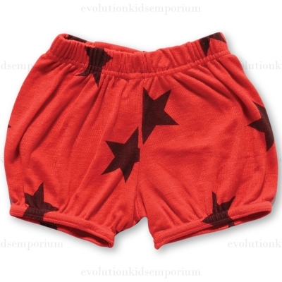 NUNUNU Red Flame Star Yoga Shorts
