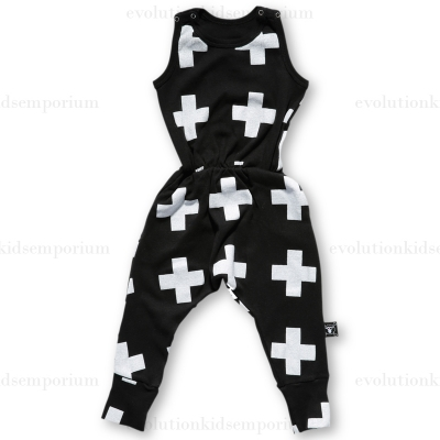 NUNUNU Black New Plus Sleeveless Romper