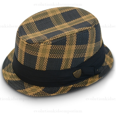 Fore!! Axel & Hudson Golden Plaid Fedora