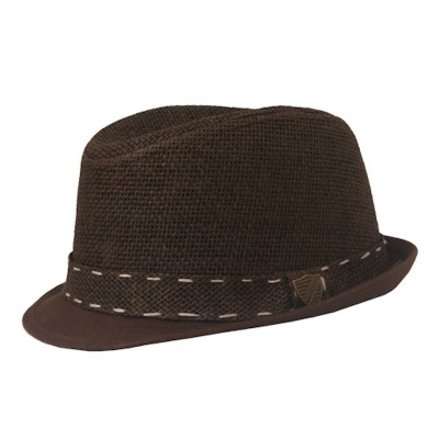 Fore!! Axel & Hudson Brown Paper Braid Fedora
