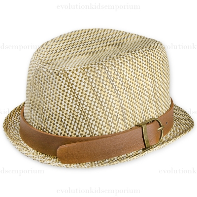Fore!! Axel & Hudson Tan Basket Weave Trilby