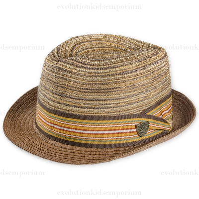 Fore!! Axel & Hudson Multi Stripe Cotton Braid Fedora