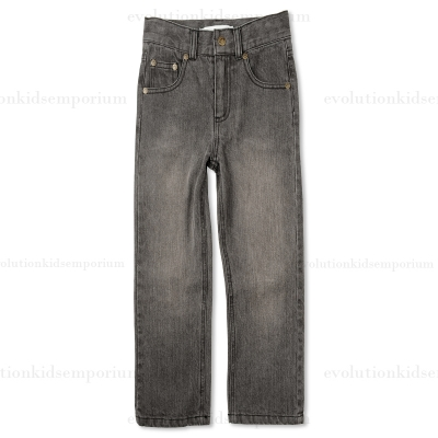 Boy's Black Straight Leg Denim pants