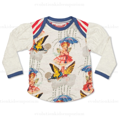 Little Wings Winter Fairy Puff Sleeve Tee