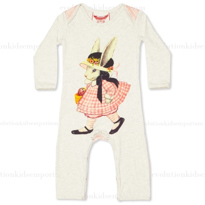 Little Wings Winter Bunny Long Sleeve Romper