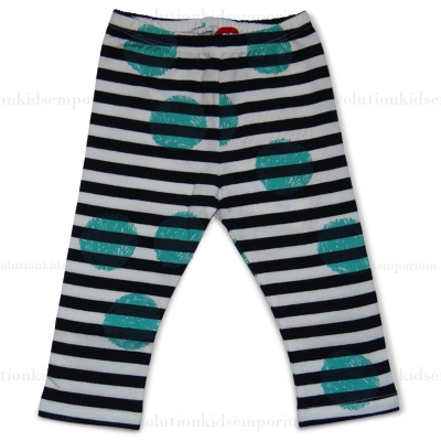 Paper Wings Black Cream Turquoise Pencil Spot Leggings