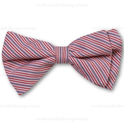 Fore!! Axel & Hudson Red Stripe Bow Tie