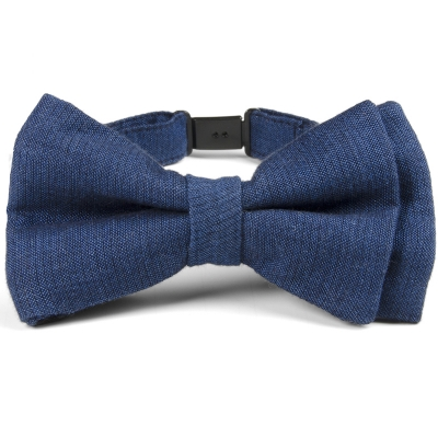 Fore!! Axel & Hudson Navy Linen Bow Tie