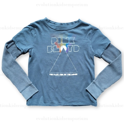 Rowdy Sprout Faded Navy Pink Floyd Layered Tee