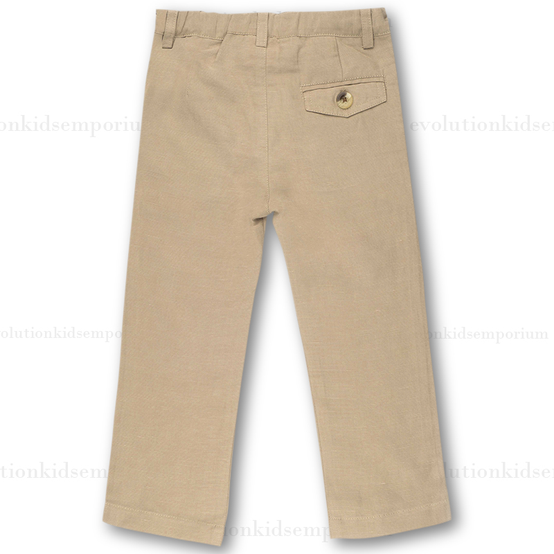 Fore Axel Hudson Khaki Linen Pants Evolution Kids Emporium