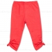 Little Wings Red Ruched Leggings w/Buttons