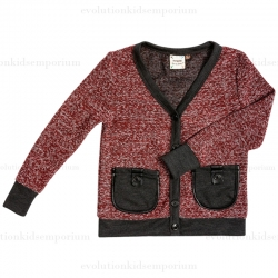 Fore!! Axel & Hudson Brick Leather Trim Cardigan