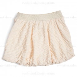 Fore!! Axel & Hudson Cream Crinkle Bubble Skirt w/Metallic Waistband