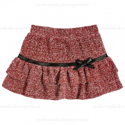Fore!! Axel & Hudson Brick Boucle Skirt w/Leather Contrast