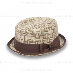 Fore!! Axel & Hudson Tan Paper Straw Basket Pork Pie Hat