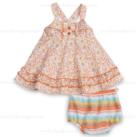 Fore!! Axel & Hudson Ditsy Print Dress w/Diaper Cover