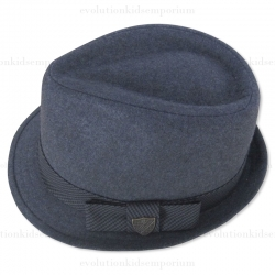 Fore!! Axel & Hudson Grey Flannel Fedora w/Houndstooth Check Band