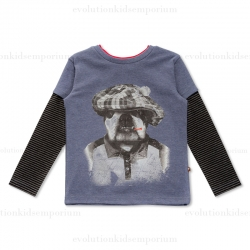 Fore!! Axel & Hudson Blue Heather Twofer Bulldog Tee