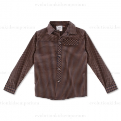 Fore!! Axel & Hudson Brown Playground Check Button Down Shirt