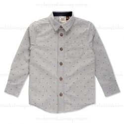 Fore!! Axel & Hudson Grey Fossil Print Shirt