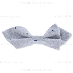 Fore!! Axel & Hudson Grey Fossil Print Bow Tie