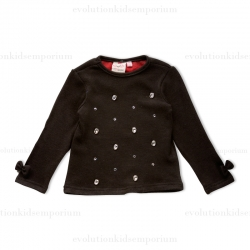 Fore N Birdie Black Knit Sweater w/Crystal Embellishment