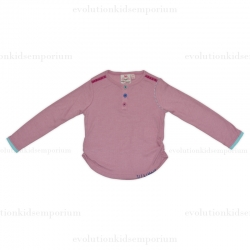 Fore N Birdie Pink/Mauve Multi-Colored Button Top