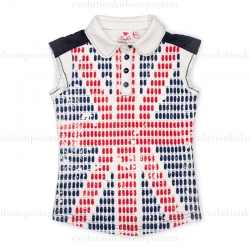 Fore N Birdie Union Jack Sleeveless Polo w/Golf Bags