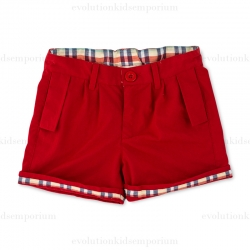 Fore N Birdie Red Rolled Cuff Shorts
