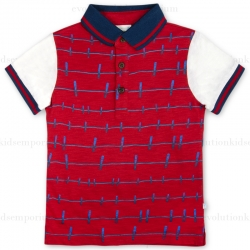 Fore!! Axel & Hudson Red Clothes Pin Print Polo