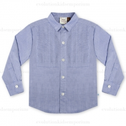 Fore!! Axel & Hudson Chambray Tuxedo Shirt w/Rolled Cuffs
