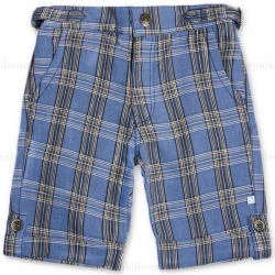 Fore!! Axel & Hudson Classic Navy Plaid Linen Shorts