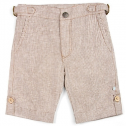 Fore!! Axel & Hudson Brown Linen Houndstooth Shorts