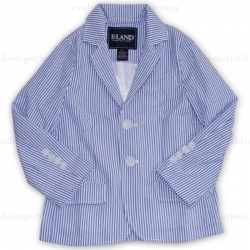 E-Land Kids Light Blue Seersucker Blazer