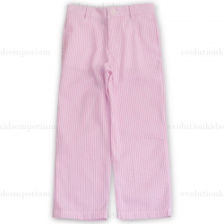 E-Land Kids Pink Seersucker Pants
