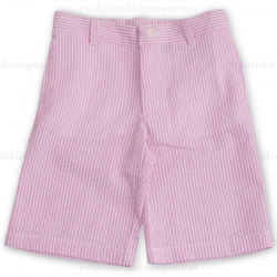 E-Land Kids Pink Seersucker Shorts
