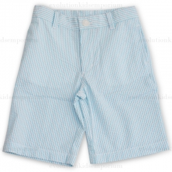 E-Land Kids Sea Mist Seersucker Shorts