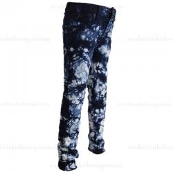 La Miniatura Girls Navy Tie Dye Crayon Skinny Denim Jeans