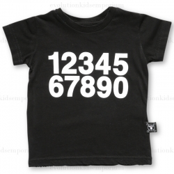 NUNUNU Black Numbers T-Shirt