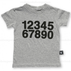 NUNUNU Heather Grey Numbers T-Shirt