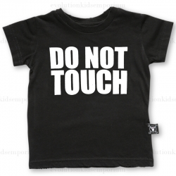 NUNUNU Black DO NOT TOUCH T-Shirt
