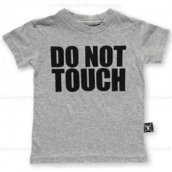NUNUNU Heather Grey DO NOT TOUCH T-Shirt